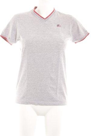 Lauren Jeans Co. Ralph Lauren T-Shirt hellgrau-rot sportlicher Stil