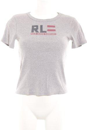Lauren Jeans Co. Ralph Lauren T-Shirt hellgrau sportlicher Stil