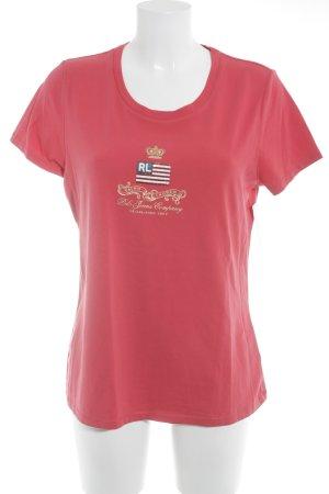 Lauren Jeans Co. Ralph Lauren T-Shirt ziegelrot Schriftzug gedruckt Casual-Look