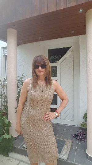 Lauren by Ralph Lauren Tube Dress gold-colored-sand brown