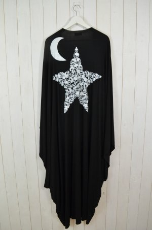LAUREN MOSHI Damen ELOISE LONG DRAPED CARDIGAN STAR & MOON Black White Gr.0Size