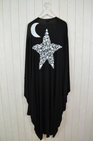 LAUREN MOSHI Damen ELOISE LONG DRAPED CARDIGAN STAR & MOON Black White Gr.0Size
