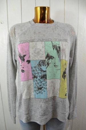 LAUREN MOSHI Damen Sweatshirt Mod. Bardot Vintage Pulli col. Heather Grey Gr.M
