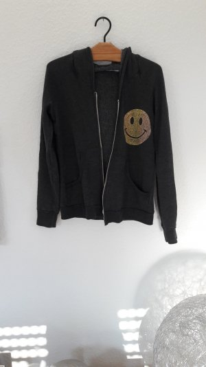 Lauren Moshi Hoodie Sweat Sweater Sweatjacke Smiley M