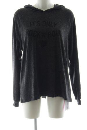 Lauren Moshi Kapuzensweatshirt dunkelgrau-schwarz Schriftzug gedruckt