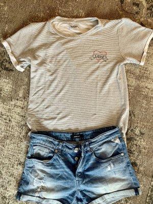 Lauren Moshi Gestreept shirt wit-zwart