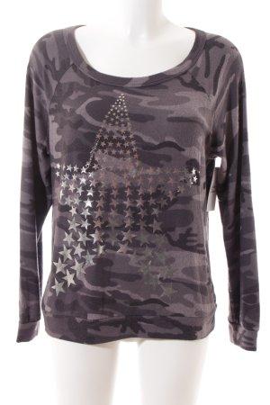 Lauren Moshi Sweatshirt grau Camouflagemuster sportlicher Stil