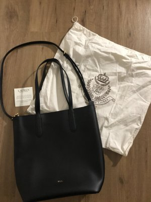 Lauren by Ralph Lauren Shopper zwart Leer