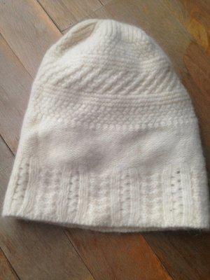 Ralph Lauren Sombrero de punto blanco puro-crema