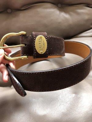 Lauren by Ralph Lauren Leather Belt brown leather