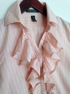 Lauren Ralph Lauren rosa Rüschen Hemd Gr. S