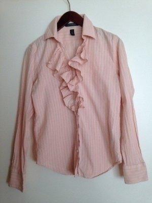 Lauren by Ralph Lauren Ruche blouse wit-rosé