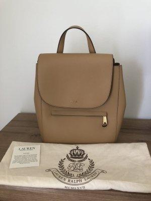 Lauren by Ralph Lauren School Backpack beige-camel leather