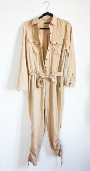 Lauren by Ralph Lauren Tailleur-pantalon marron clair tissu mixte
