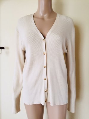 Lauren by Ralph Lauren Jersey con cuello de pico crema-blanco puro