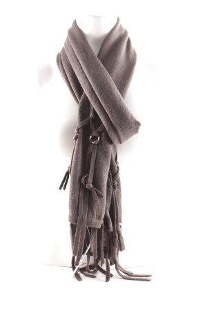 Lauren Vidal Fransenschal dunkelgrau Elegant