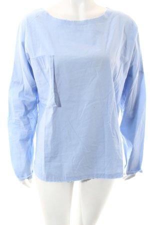 Laurence dolige Langarm-Bluse hellblau schlichter Stil
