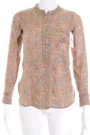 Laurence dolige Camisa tejida multicolor estilo hippie