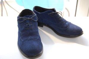 Zapatos brogue azul Cuero