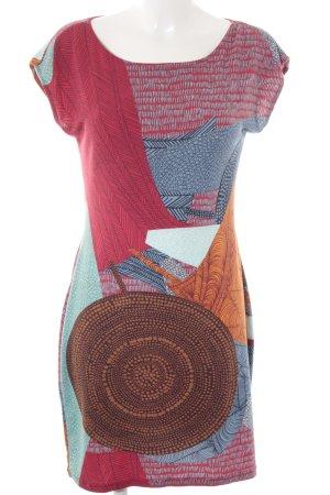 Lavand A-Linien Kleid abstrakter Druck Boho-Look
