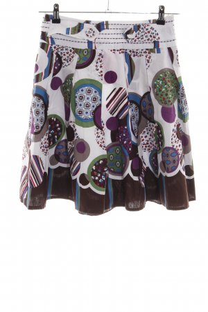 Lavand Flared Skirt abstract pattern casual look