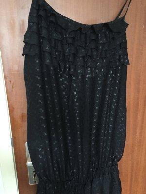Lavand Jumpsuit stylisch eleganter Overall schwarz Grösse M