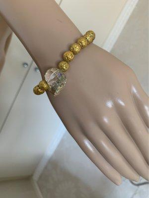 Lavaperlen Armband mit Totenkopf ca 19 cm neu elastisch