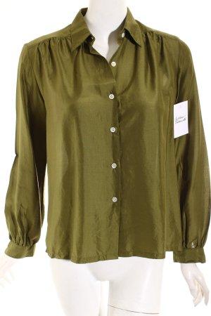 Lavelli Langarm-Bluse olivgrün Casual-Look