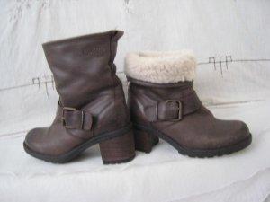 Lavenzarode Argentina Leder Boots Mocca Braun Top Neu