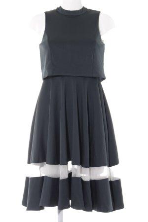 Lavish Alice A-Linien Kleid petrol-weiß Elegant