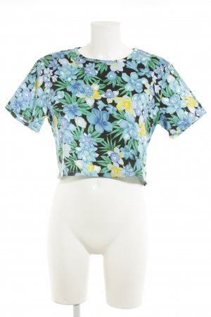 Lavish Alice Cropped Shirt Blumenmuster Casual-Look