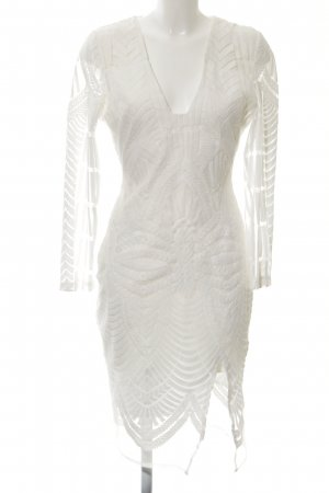 Lavish Alice Etuikleid weiß florales Muster Elegant