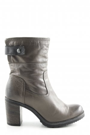Lavorate a mano Heel Boots bronze-colored business style