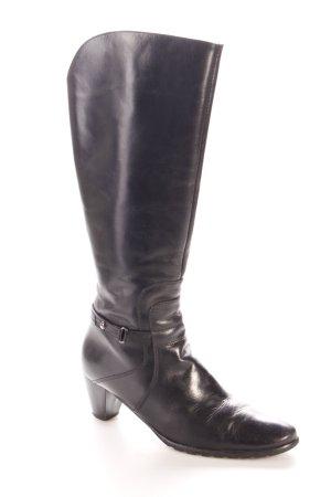 Lavorazione Artigia Absatz Stiefel schwarz schlichter Stil