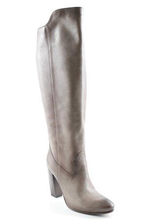 Lavorazione Artigiana Heel Boots grey brown casual look