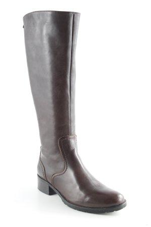 Lavorazione Artigiana Wide Calf Boots dark brown casual look