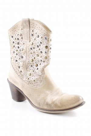 Lavorazione Artigiana Western Booties sand brown-light grey casual look