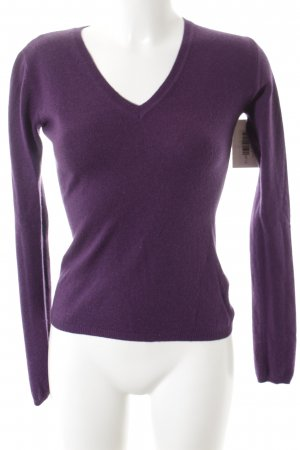 Lawrence Grey Pull en cashemire violet foncé style simple