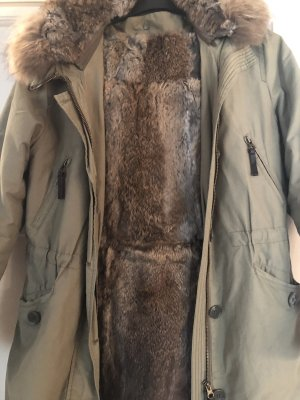 Lawrence Grey Pelt Coat khaki fur
