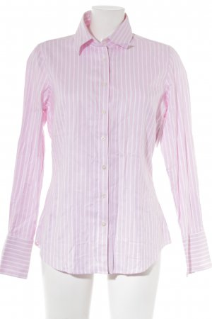 Lawrence Grey Hemd-Bluse rosa-weiß Streifenmuster Business-Look