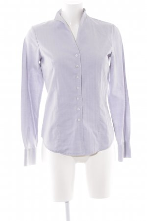 Lawrence Grey Hemd-Bluse weiß-helllila Fischgrätmuster Business-Look