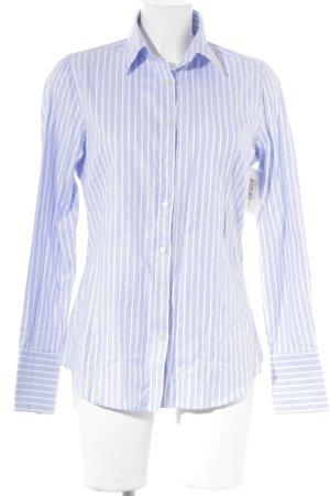 Lawrence Grey Hemd-Bluse weiß-himmelblau Streifenmuster Business-Look
