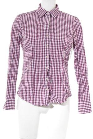 Lawrence Grey Hemd-Bluse weiß-purpur Karomuster Business-Look