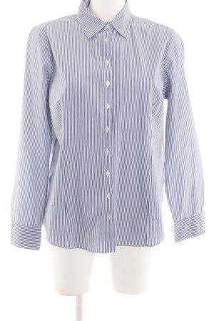 Lawrence Grey Camisa de manga larga azul-blanco estampado a rayas