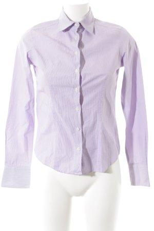 Lawrence Grey Langarmhemd weiß-blasslila Streifenmuster Casual-Look