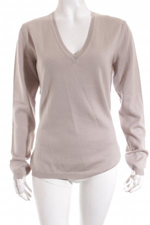 Lawrence Grey V-Ausschnitt-Pullover beige Casual-Look