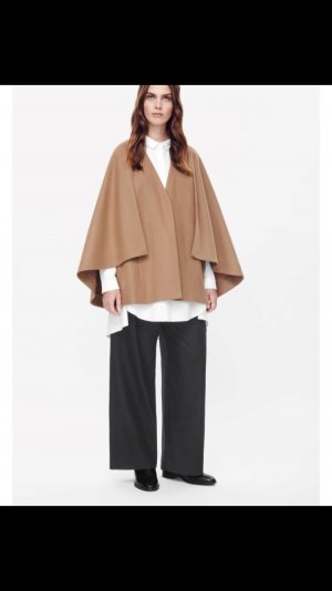 Layered Wool Cape - oversize 34