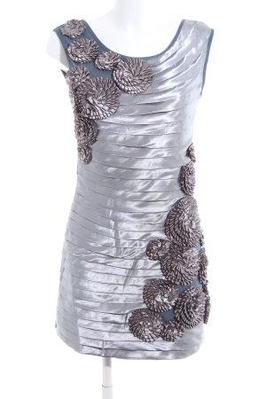 Layers Schlauchkleid silberfarben-blau extravaganter Stil
