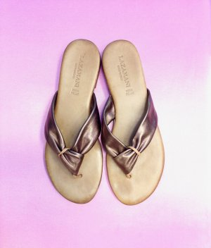 Lazamani High-Heeled Sandals sand brown-bronze-colored