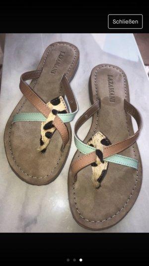 Lazamani Toe-Post sandals sand brown